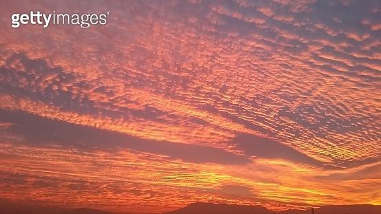 sunset of the Quinta Normal neighborhood in Santiago de Chile