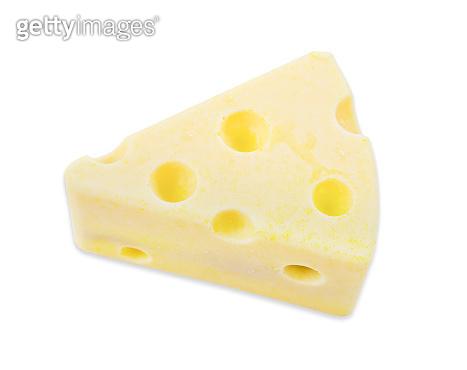 fresh cheese cake isolated on white background