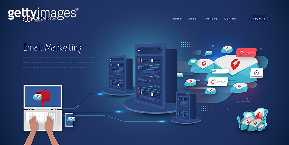 E-mail Marketing concept based landing page design
