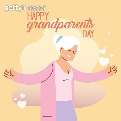 Grandmother of happy grandparents day vector design
