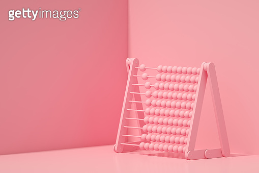 3D Abacus, Back to School Concept