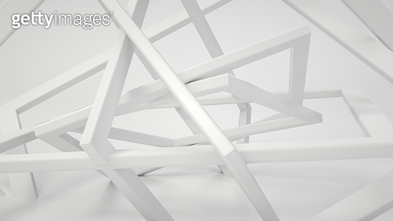 Abstract futuristic background with square shapes on white background