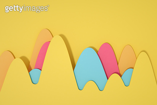 Abstract Curve Chart, Multi colored