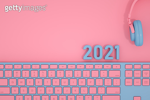2021 New Year and Computer Keyboard