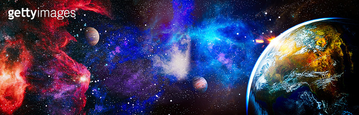 Planets, stars and galaxies in outer space showing the beauty of space exploration. This image elements furnished by NASA.