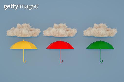 Umbrella under the cloud