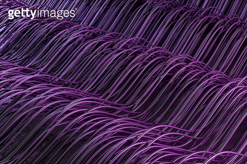 Abstract Wave Fiber Cable Line Background, Neon Lightning