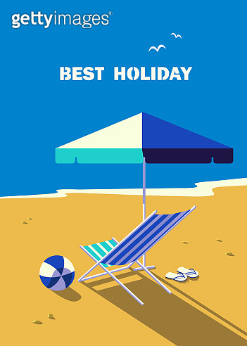Summer holidays vector poster background