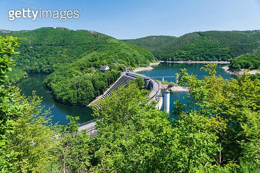The Urft Dam near Vogelsang in the Eifel