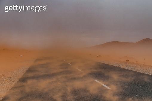Sandstorm in the Namib Desert