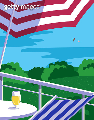 Summer outdoor leisure time background flat vector
