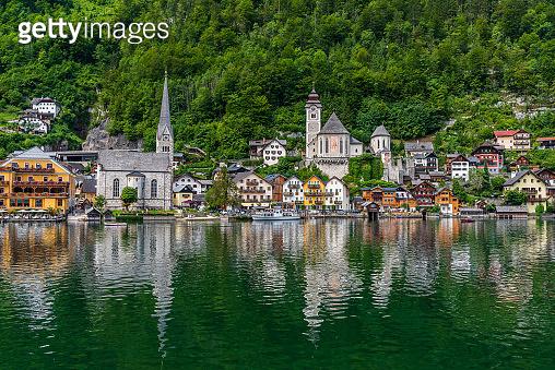 Hallstatt village in Salzkammergut