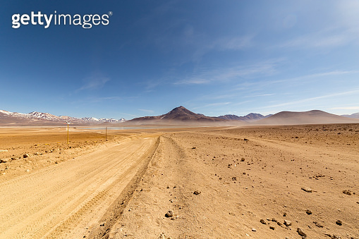 Panoramic view of  Siloli Desert, in southern Bolivia