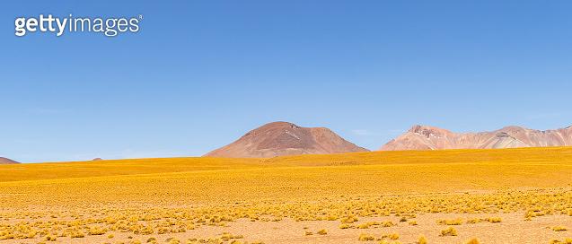Panoramic view of  Siloli Desert, in Bolivia