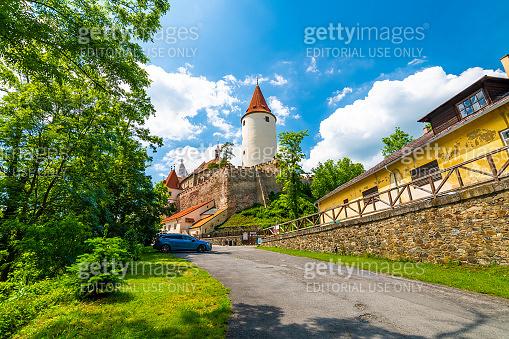The Krivoklat fort, Czech republic. Outdoor panorama.