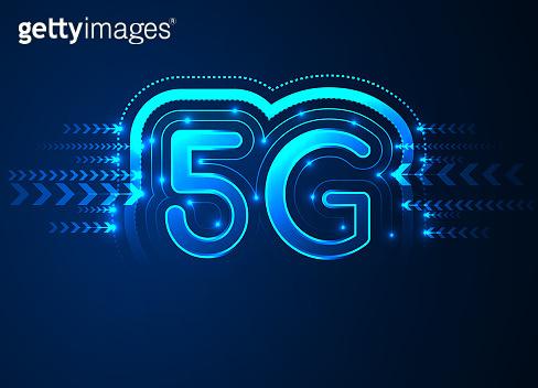 5G network wireless internet, High-speed mobile Internet, Wi-fi connection. Hi-tech digital technology concept