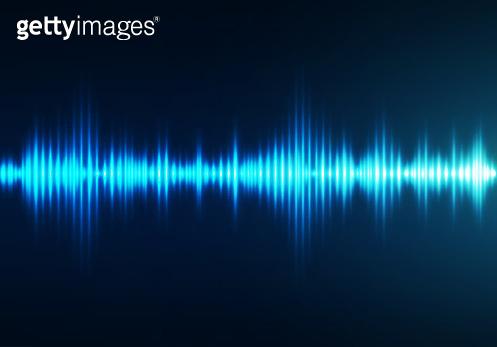 Sound wave background. Audio waveform