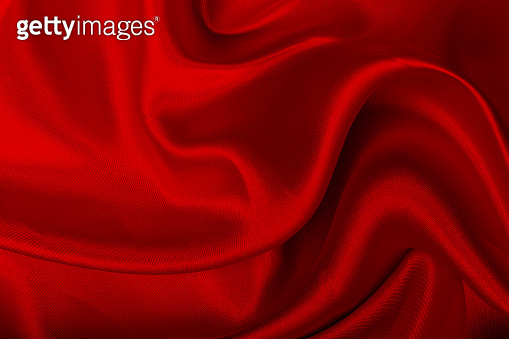 Red satin fabric texture background