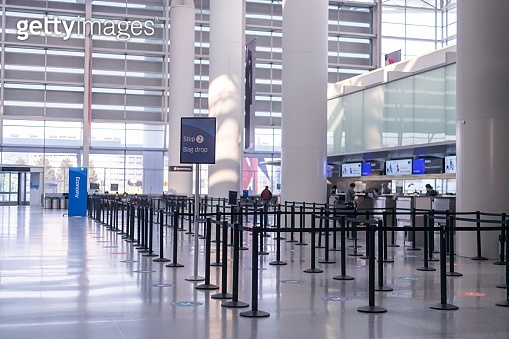 Empty airport terminal at day