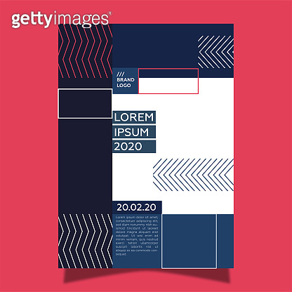 Geometric squares event poster template
