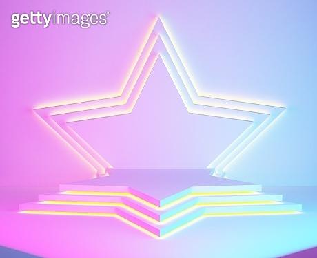 star pedestal scene