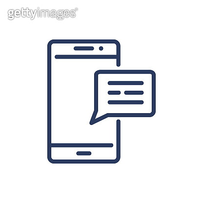 Message thin line icon