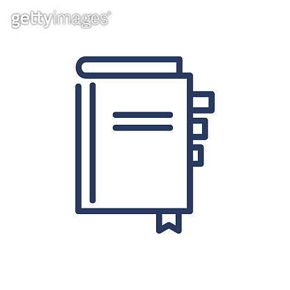 Daily notebook thin line icon