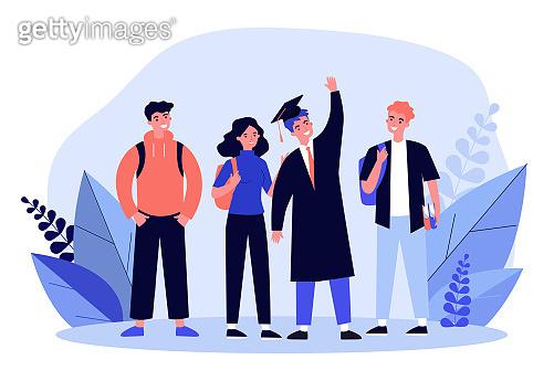 Happy school or college graduate