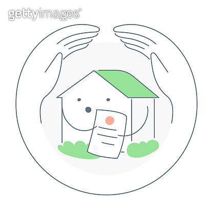 Home insurance vector