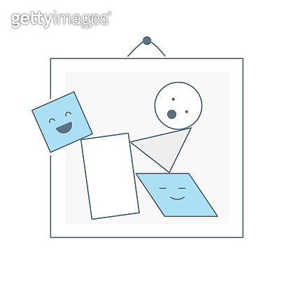 Clipart in the picture frame