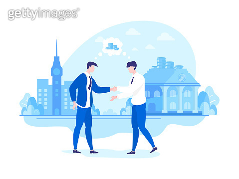 Meeting Businessmen Think about Goal to Earn Money