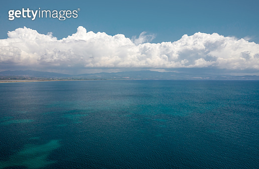 Aerial view of seascape.