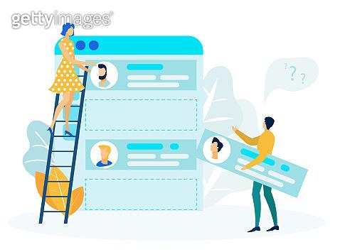 UI, UX Designers at Work Flat Vector Illustration
