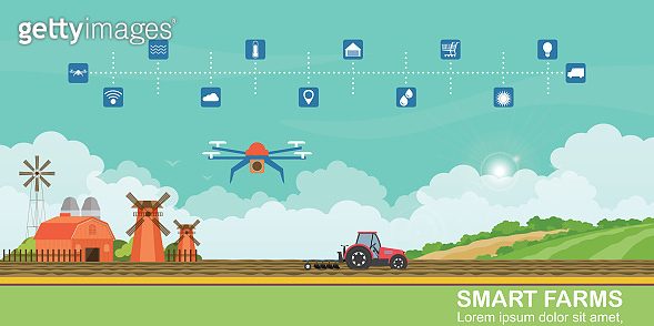 Smart farm and agricultural drones for control agricultural production.