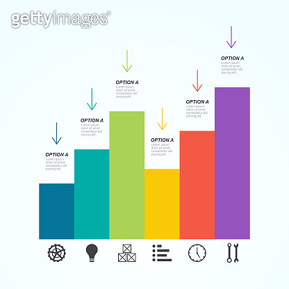 Bar Chart Graph Diagram Financial Analytic Statistical Business Infographic Illustration