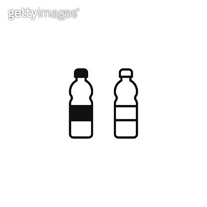 Plastic bottle icon vector. Water bottle sign