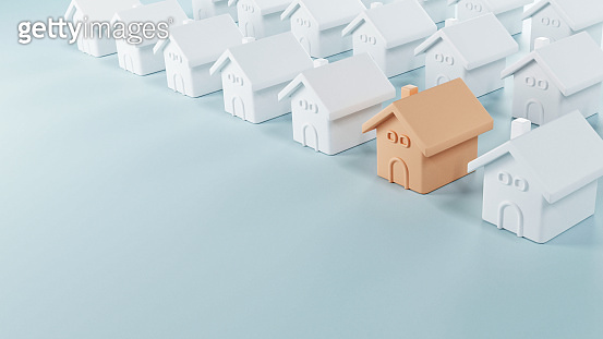 Choosing the best real estate property, New home in a housing development or community.