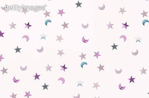 Small moons and stars confetti