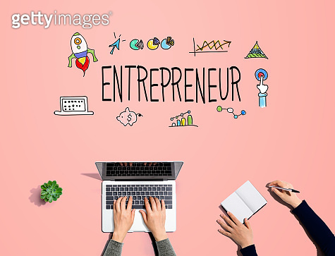Entrepreneur with people working together