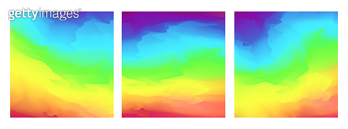 Abstract bright square rainbow colors background