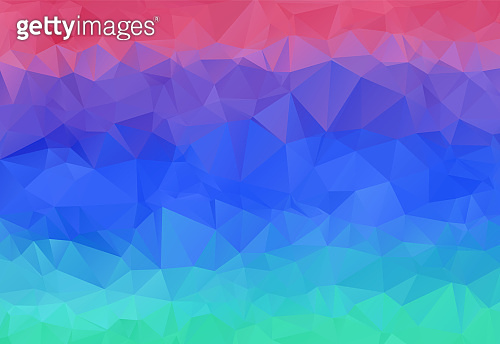 Bright sunset sky abstract polygonal background