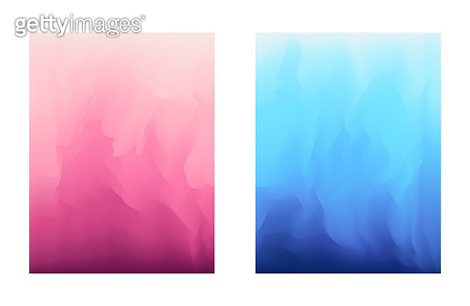 Abstract gradient colors blue and pink backgrounds
