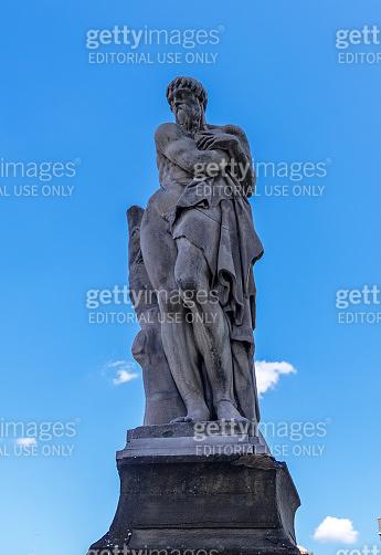 Four Seasons Winter statue Ponte Santa Trinita Florence Tuscany Italy