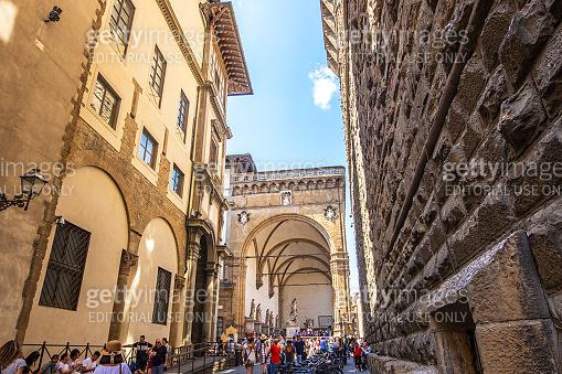 Loggia dei Lanzi at the Piazza della Signoria in Florence, Tuscany, Italy
