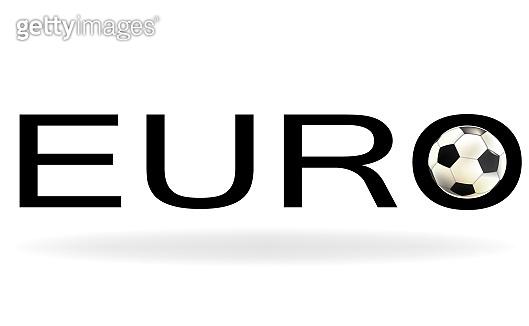 Soccer cup, Euro football championship logo