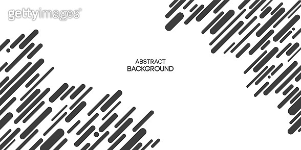 Abstract background of chaotic diagonal lines, rounded stripes, poster, banner.