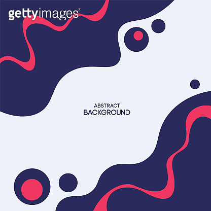 Abstract liquid shapes background. Smooth geometric shapes composition.