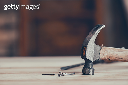 Vintage woodworking equipment for DIY and work tools for carpenter and craftsmanship. Happy Labor day concept. Lock down and Self-quarantine at home.