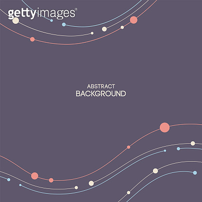 Abstract background, poster, card. Composition of smooth lines and dots.