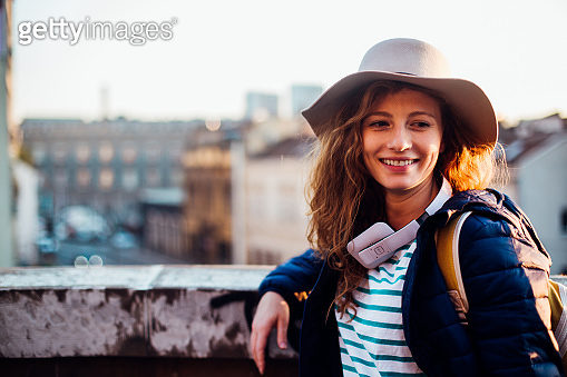 Girl enjoying her solo journey